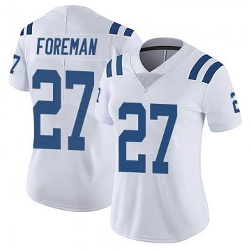 Women's Indianapolis Colts D'Onta Foreman White Limited Vapor Untouchable Jersey By Nike