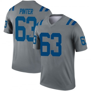 Youth Indianapolis Colts Danny Pinter Gray Legend Inverted Jersey By Nike