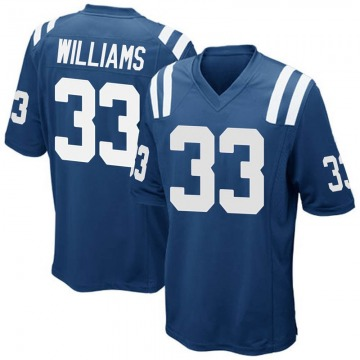 Youth Indianapolis Colts Jonathan Williams Royal Blue Game Team Color Jersey By Nike