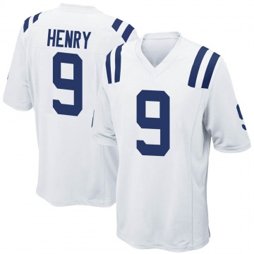 Youth Indianapolis Colts Malik Henry White Game Jersey By Nike