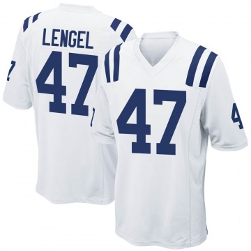 Youth Indianapolis Colts Matt Lengel White Game Jersey By Nike